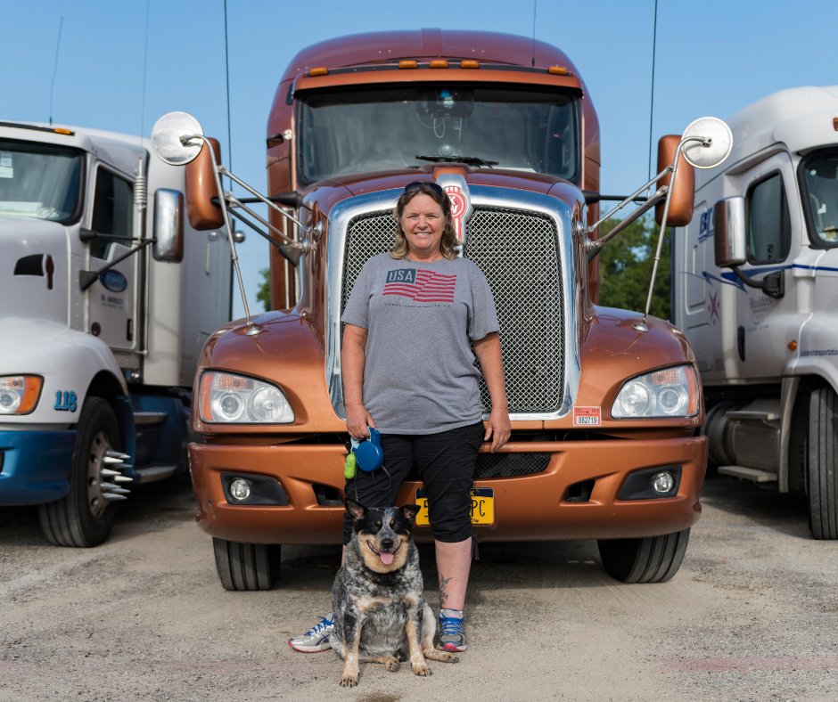 Commercial Truck Driver and Pet